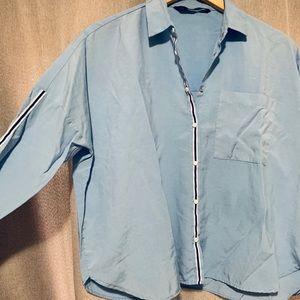 Zara blouse in jean blue